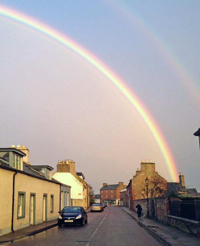 Rainbow over High Street