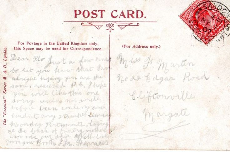Postcard from HMS Natal