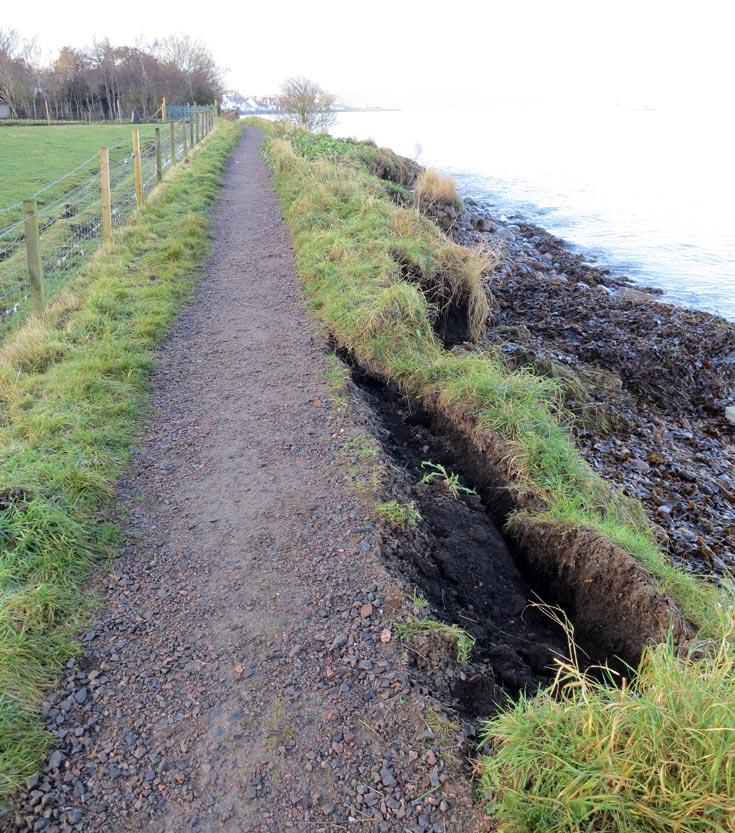 Shore Path Storm Damage - 14th December 2012