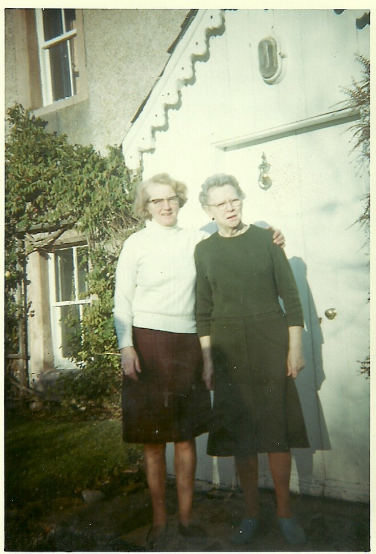 Margaret Bain with Mrs Fraser - c1970???