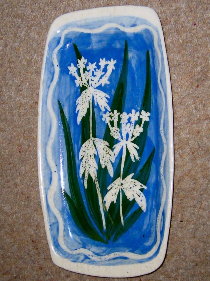 An old Cromarty Pottery wild flower design plate/dish