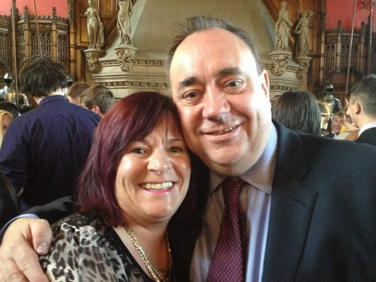 Wanda MacKay with the First Minister
