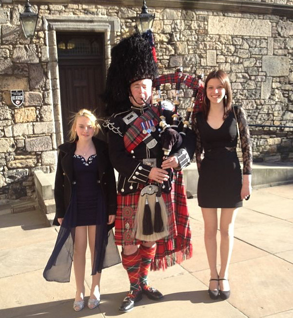 Emily Kelly and Estere Vitola at Edinburgh Castle