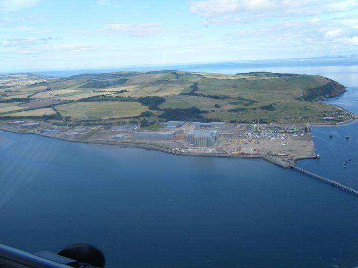 Aerial view of Nigg and North Sutor
