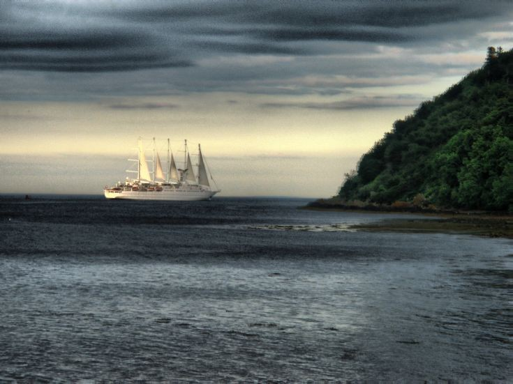 Wind Surf leaving the Cromarty Firth