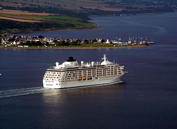 'The World' entering the Firth - 2002