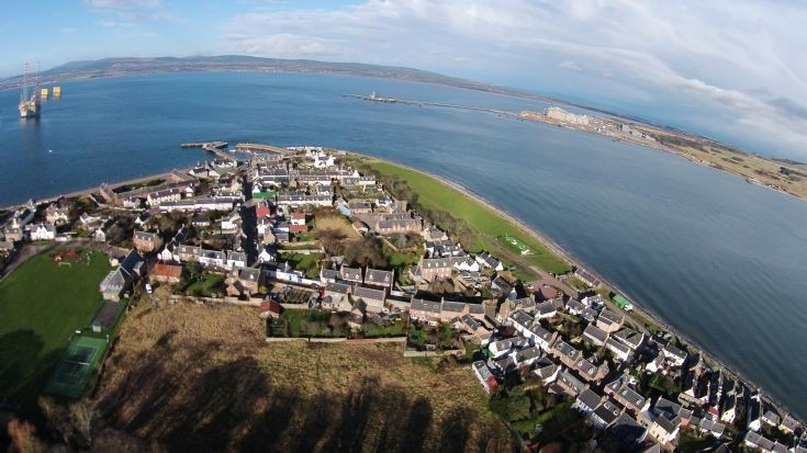 Cromarty aerial photo looking north west