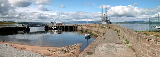Cromarty Harbour panorama