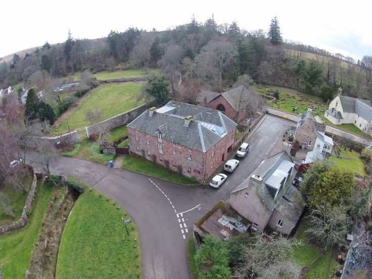 Aerial view - Old Brewery & East church