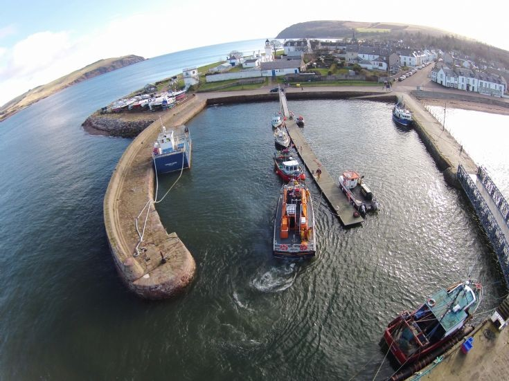 Aerial View - Cromarty Harbour & Lifeboat