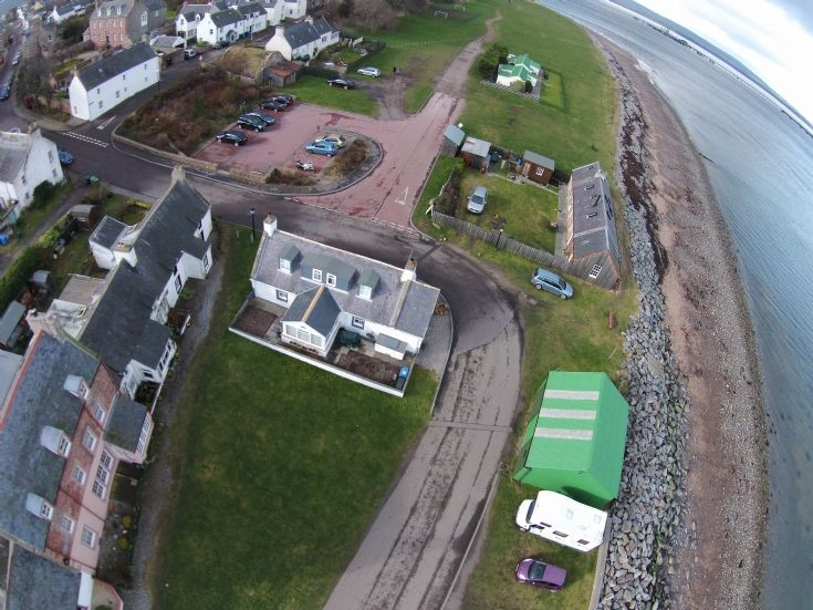 Aerial View - Shore Street with Seacott Cottage