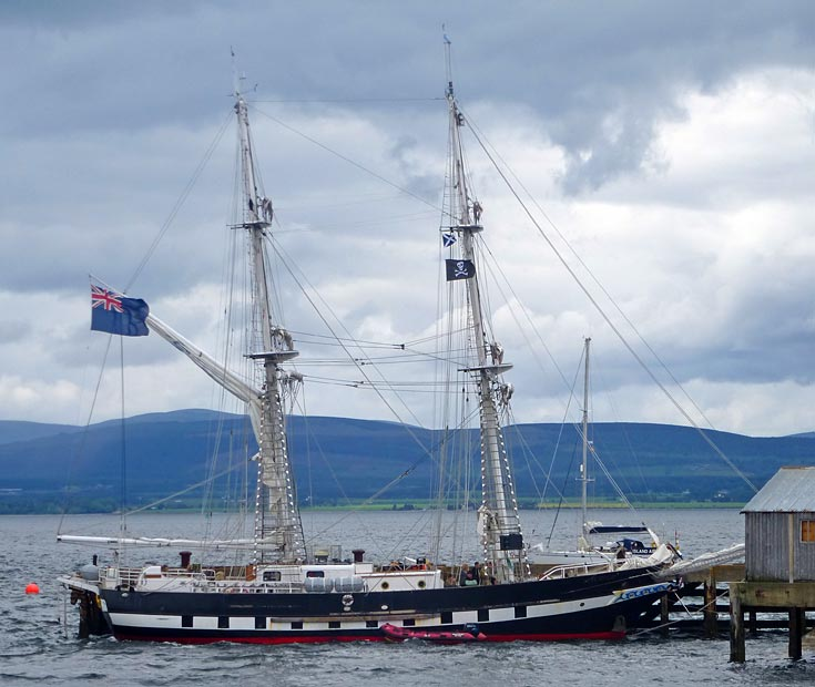 T.S. Royalist in Cromarty Harbour
