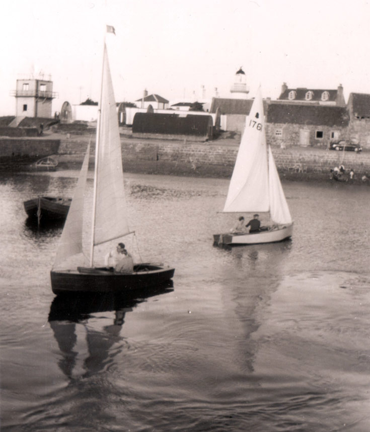 Yachts in Cromarty Harbour c1960