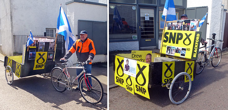 Totter's General Election 2015 SNP 'Battle Bus'