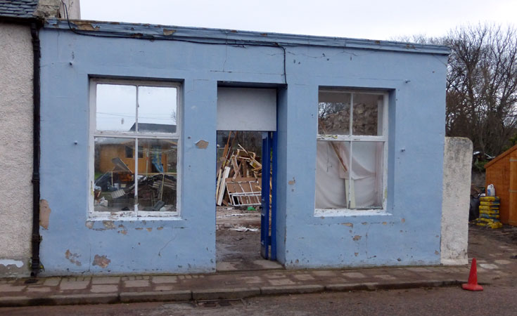 McBeath's old shop - rebuild underway