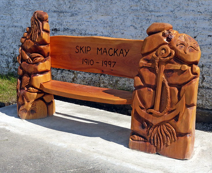 Memorial bench for Skip MacKay 1910-1997