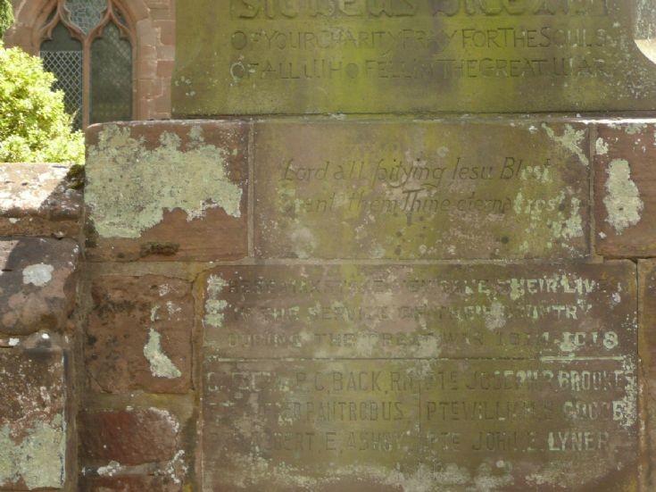 Memorial to Captain Back Hms Natal
