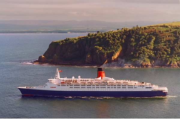 QE2 leaving the firth - 1998