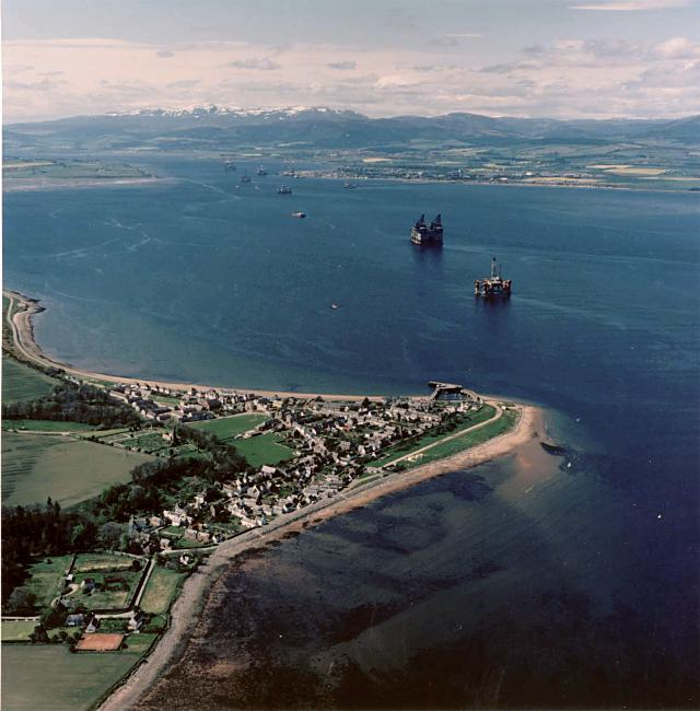 Aerial view of Cromarty - c1988