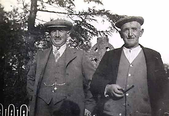 Two men in St Regulus' Graveyard