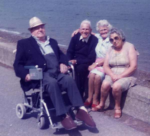 Sitting on the sea wall - c1980