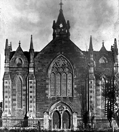 West Church (Free Church) before the fire - c1916