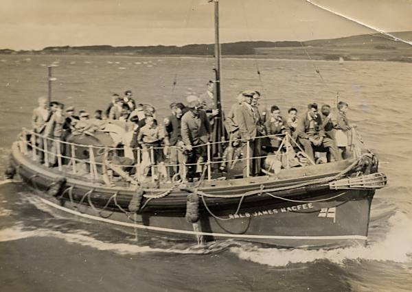 Lifeboat at Regatta - c1950