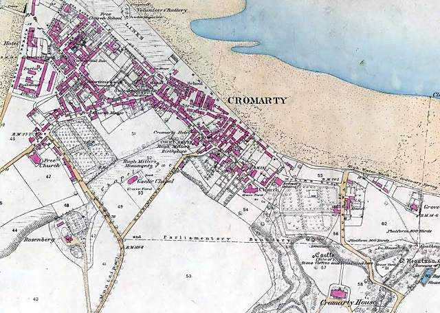 Map of Cromarty - 1871