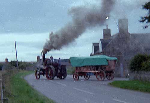 Steam Engine leaving Newton Farm