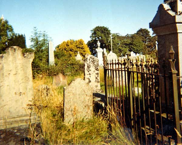 Gaelic Chapel Graveyard looking east