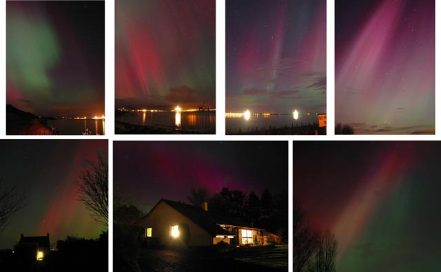 Northern Lights (aurora borealis) over the Firth