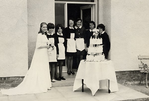 Wedding Group outside Royal Annex - 1968