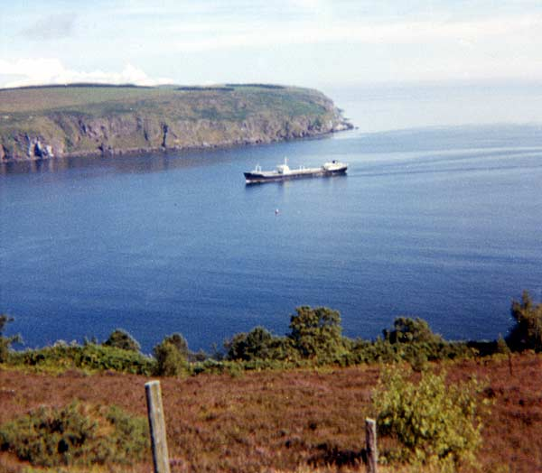Cromarty Firth - the first oil tanker