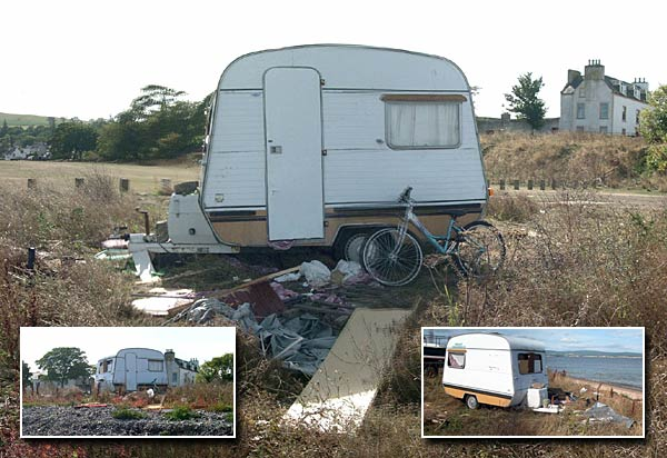 Caravan dumped on Links in the summer