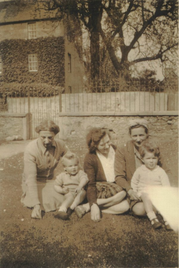 Clements Family in the Garden of Wellington House