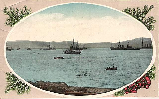 Battleships near Sutors of Cromarty