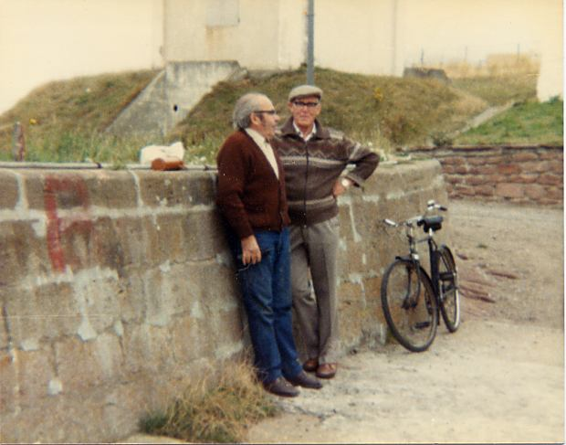 Relaxing against the Parapet Wall - c1981