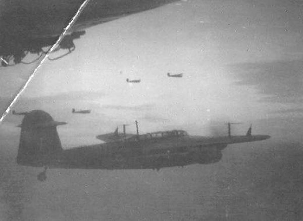 Barracuda aircraft over the firth -  5th Jan 1945