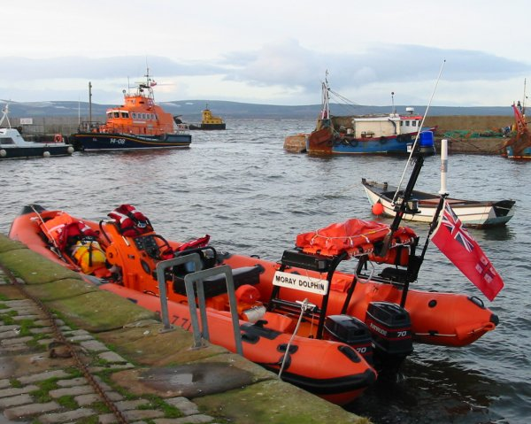 Two Lifeboats in the Harbour 27th Dec 2003