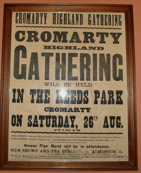 Cromarty Highland Games Poster