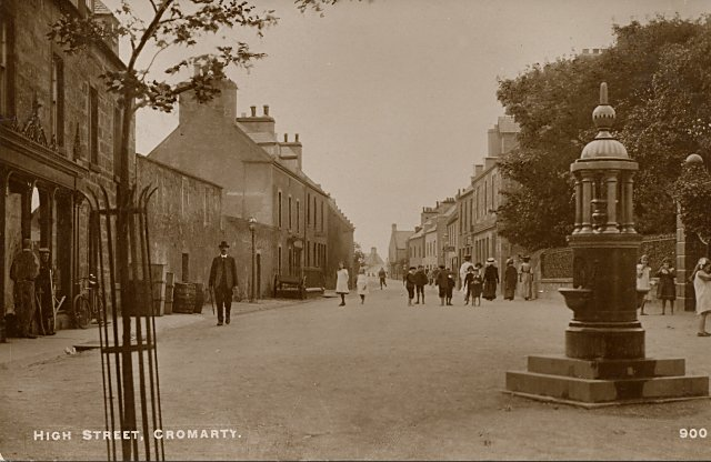Postcard titled 'High Street, Cromarty' - c1913