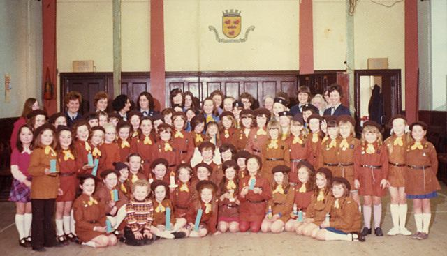 Brownies in the Victoria Hall - c1968