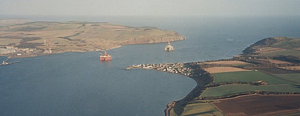 Aerial view of Cromarty from the west - 2001