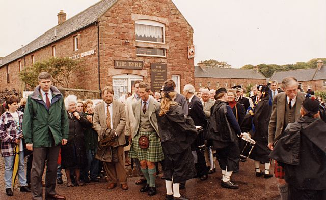 Prince Charles outside the Byre - 1994