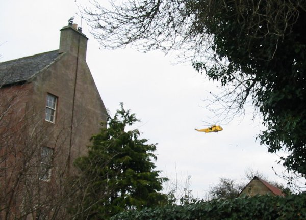 Sea King 137 over St Annes