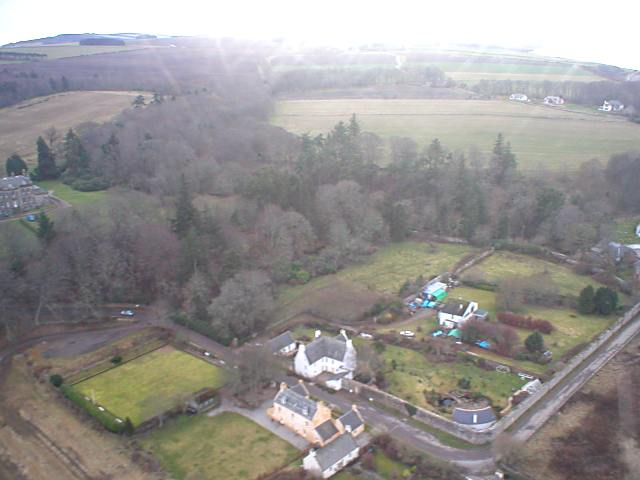 Aerial view at East end of town - 2004