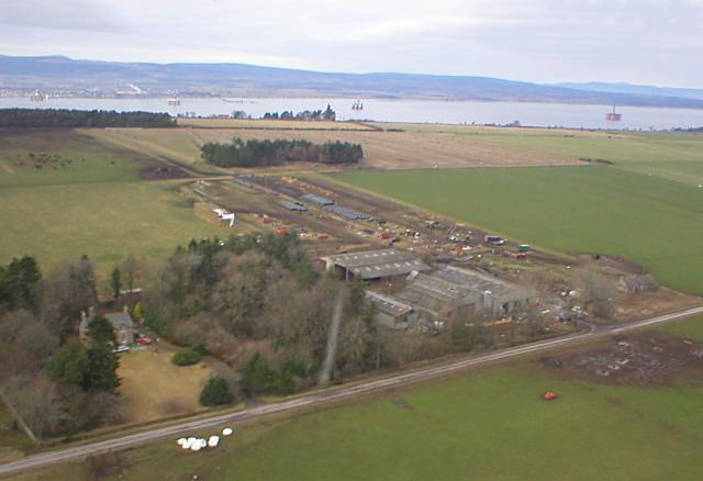 Aerial view of Glenurquhart Farm - 2004
