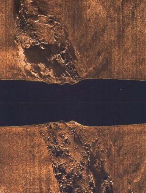 Sonar image of HMS Natal - c2003