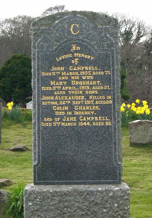 Grave of John Campbell, d.1937