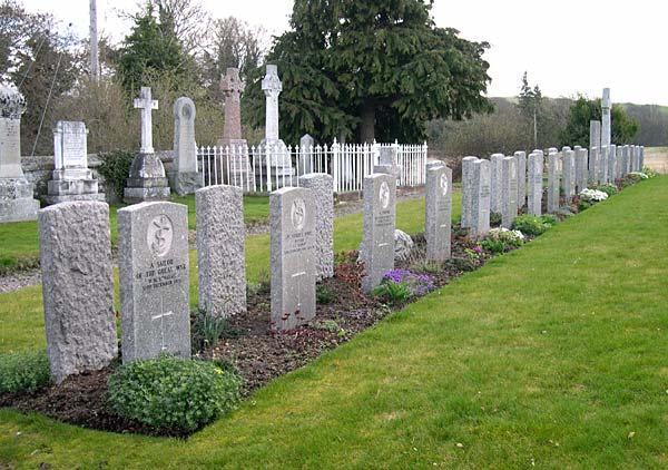 World War 1 servicemen's graves